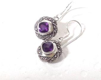 amethyst earrings, Purple earrings, gift for mom, purple gemstone earrings, earrings amethyst, febuary birthstone earrings, earings gift