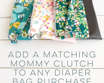 ADD ON - Mommy Clutch - Add a Mommy Clutch to your Backpack Diaper Bag Purchase