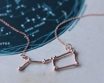 Ursa Major Constellation Necklace, Constellation Necklace, Rose gold vermeil, Celestial jewellery