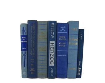Blue Farmhouse Rustic Decorative Books,  Blue Vintage Books,  Old Book,  Photo Prop, Table Setting, Centerpieces Wedding Decor, Hostess Gift