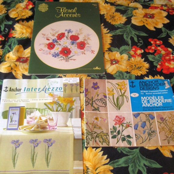 Embroidery pattern books vintage english french german