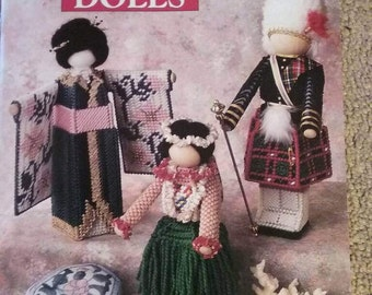 Annie's Attic, International Dolls, Plastic Canvas, Book, 14 pages, OFG