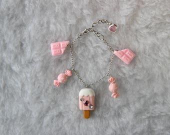 Sweet Lolita Candy Charm Bracelet