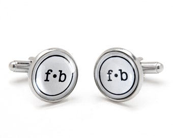 Best Gift for Dad - Father's Day Gift - Monogrammed Cufflinks - Personalized Wedding Cufflinks - Gift for Groomsmen - Gift for Men