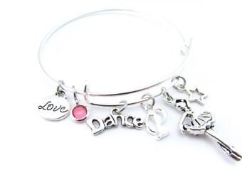 Dance Gifts, Dance Jewelry, Dance Bracelet, Gift for Dancer, Ballet Bracelet, Ballet Slippers, I love Dance