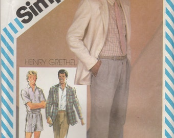Teen Jacket, Pants & Shirt Pattern Simplicity 5867 Teen Boys Size 18 Uncut