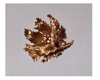 Vintage Crown TRIFARI Goldtone and Rhinestone Brooch