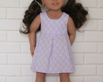 Purple Lilac Sleeveless Summer Dress Doll Clothes to fit 18 inch dolls to 20 inch dolls such as American Girl & Australian Girl dolls
