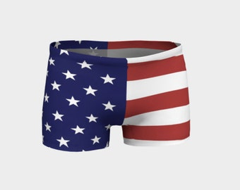 American Flag Shorts - Adult, Teen, Women's