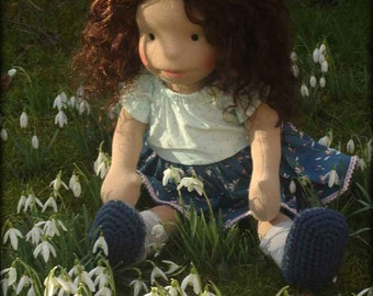 """Waldorf inspired doll called April , 18"""" doll"""