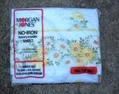 SUMMER SALE--Retro Sheet, New In Package, Maytime by Morgan Jones, Wonderful Floral