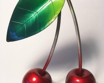 Giant Red Cherries, Cherry, Pair of Cherries