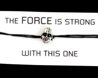 STAR WARS Darth Vader BRACELET on waxed cotton cord