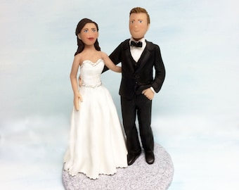 Custom Wedding Cake Topper of Bride and Groom from your Ideas and Photos Custom