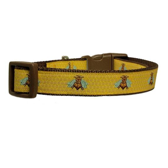 Honey Bee Dog Collar