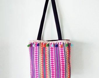Designer handbag, Small tote bag, Hand bag, Shoulder bag, Womens bag, Pockets bag, Gift for her, Cotton bag, Unique tote bag, Colorful bag