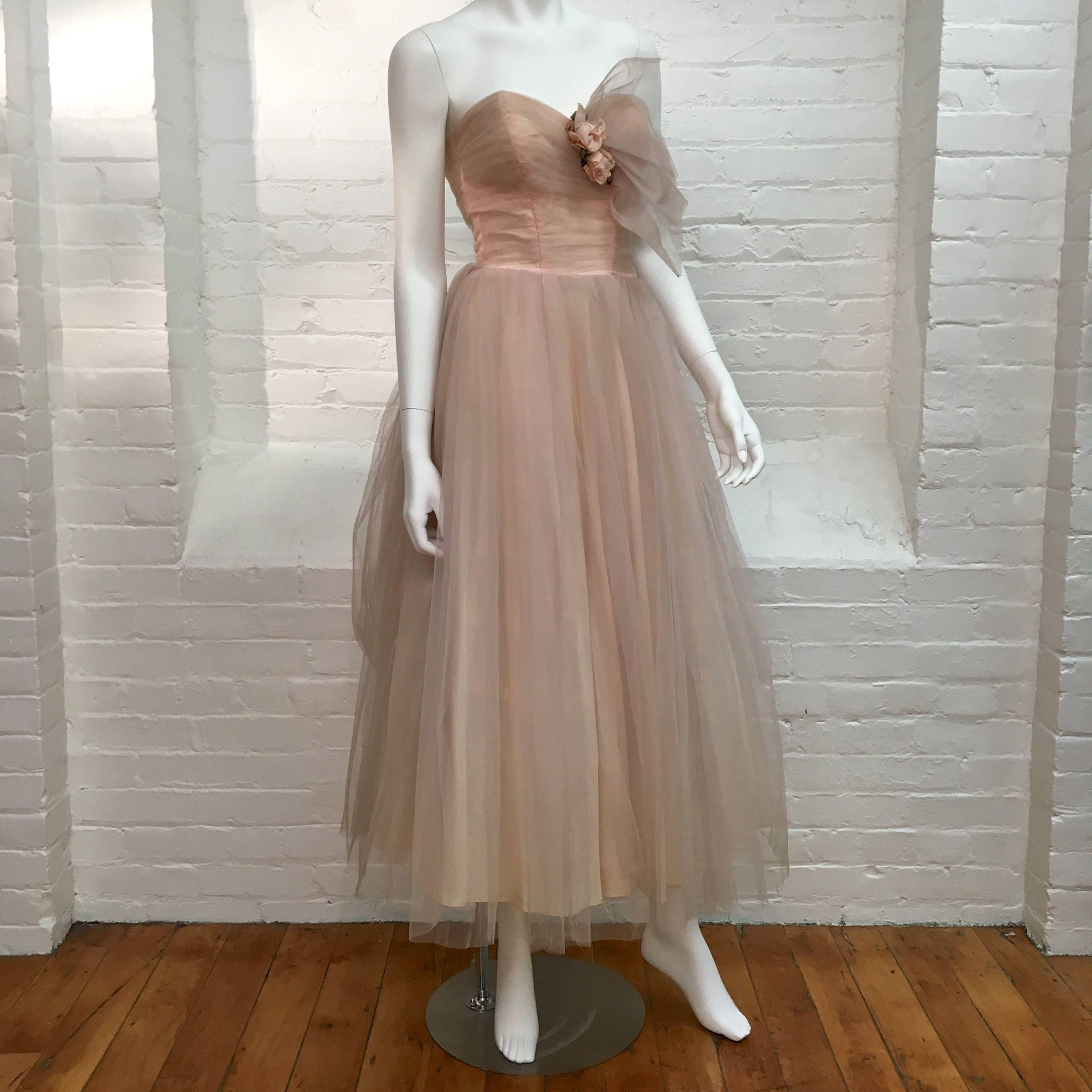 Vintage Tulle Formal Dresses