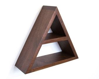 Triangle Shelf - Geometric Wood Wall Decor - Modern Shelving - Minimalist Shelf - Modern Shelving - Floating Shelf - Wood Shelf - Wall Shelf