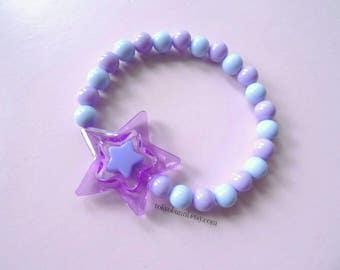 Pink & Purple Star Bracelet - Creepy Cute- Lolita- Kawaii- Gothic- Pastel Goth- Gothic Lolita- Sweet Lolita-JFashion- Harajuku- Fairy Kei