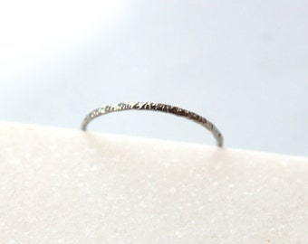 Textured Ring • Recycled 18K White Gold
