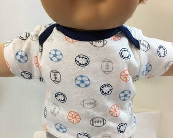 "Cabbage Patch Kids 16 inch BOY, Top ONLY 4.00 Dollars, SPORTS-Soccer,Football,Basketball Top Only, 16"" CPKids Boy, Top Only - 4.00 Dollars"