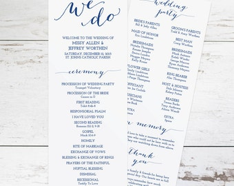 Items similar to wedding party silhouettes the classic for Wedding processional order template