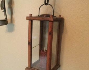Antique / vintage wood barn lantern