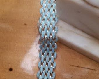 Coro signed Blue Enamel Bracelet