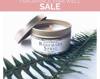 ROSEMARY SPRIG Soy Candle | Candle Tin | Travel Candle