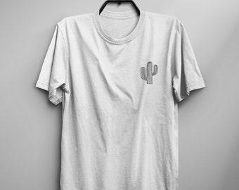 Cactus shirt tshirt womens graphic tee mens tshirts plant shirt sacculent cactus print pocket tee women t-shirt