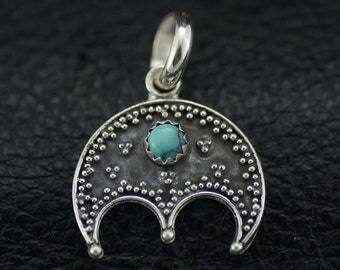 Fine Silver Lunula with Turquoise