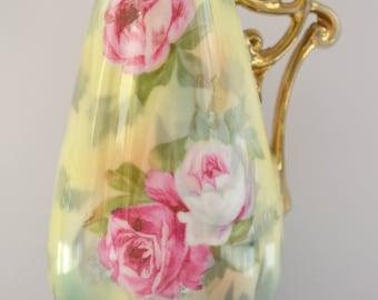 RS Prussia Porcelain Miniature Vase Rose Decor