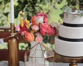 Wedding Centerpiece, Aisle Decor, Wedding Decoration, Conservatory Card Box, Geometric Terrarium, Stained Glass House, Fairy Garden Planter
