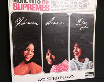 More Hits by the Supremes- Vinyl LP Record- 1965- Classic Rhythm & Blues - Stop! in the Name of Love- Classic Motown Music