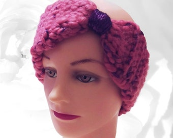 Pink Ear Warmer, Pink Headband, Purple Ear Warmer, Purple Headband, Head Warmer, Winter Headband, Pink and Purple Ear Warmer, Gift Ideas