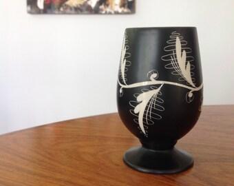 Beswick Ware vase by Albert Hallam - mid century handpainted - ceramic.