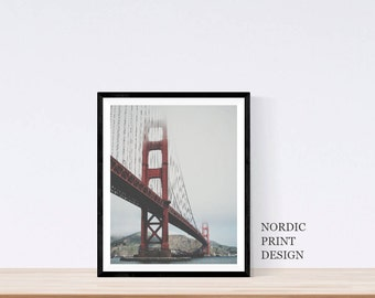 Golden Gate Bridge Print, San Francisco Art, San Francisco Print, San Francisco Poster, San Francisco Photography,  California prints,