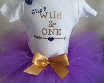 Wild One Tutu Outfit, Wild One Birthday Outfit, Wild One Tutu, Wild One Birthday Girl, Sizes 9-24 Month