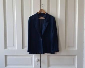 Vintage Pendleton Women's Midnight Blue Wool Blazer Size 10