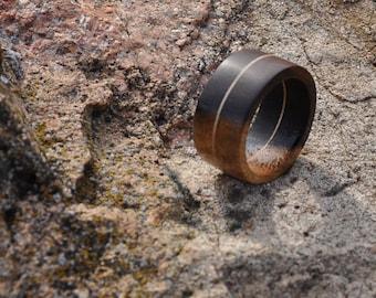 Bolivian Rosewood and Veneer Wood Ring, Natural Wood Ring, Mens Wood Ring, Womens Wood Ring, Wood Jewelry