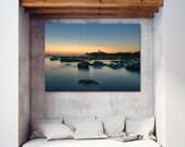 Godrevy Lighthouse, Cornwall, Seascape, Large Print, Coastal Art, Wall Art, Seascape Print, | A2/A3/A4 sizes,