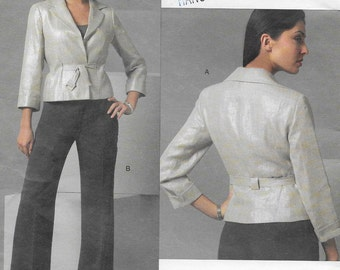 Anne Klein Vogue American Designer Jacket & Pants Womens Size 8 10 12 Uncut Sewing Pattern