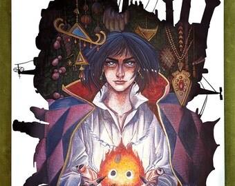 "Howl's Moving Castle Art Print - ""A Heart's a Heavy Burden"""