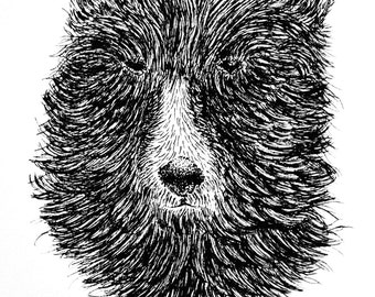 Bear - Original Ink Drawing