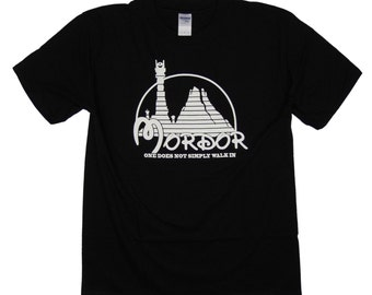 S - 5XL > LORD of the RINGS inspired T-shirt - Parody of Mordor and Disneyland