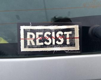 Resist,Resist bumper sticker,political patch,college decor,antifa,resist magnet,dorm decor,magnetic bumper sticker,vinyl magnet,anti Trump