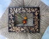 RESERVED for Becky- ivy blossom wood frame