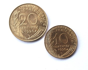 UNC- French coin avant euro- 20+10 centimes 90-x- Type Marianne- The olds french coins - Francs - Numismatics - Collection