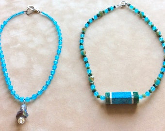 Sea Blue Necklaces Handmade by Andrea Comsky