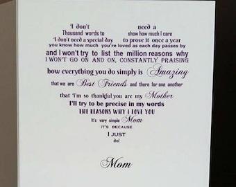mom card mom birthday card mum birthday card birthday card mum poem